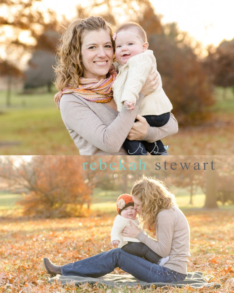 A six month old baby is snuggled with her mom in Cedar Rapids {child photography}
