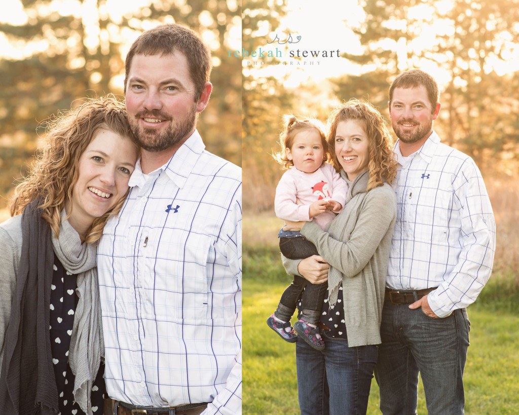 gorgeous family in the fall - fun, happy toddler {family photographer Cedar Rapids}