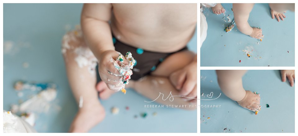 Cake smash – first birthday {Cedar Rapids baby photographer}