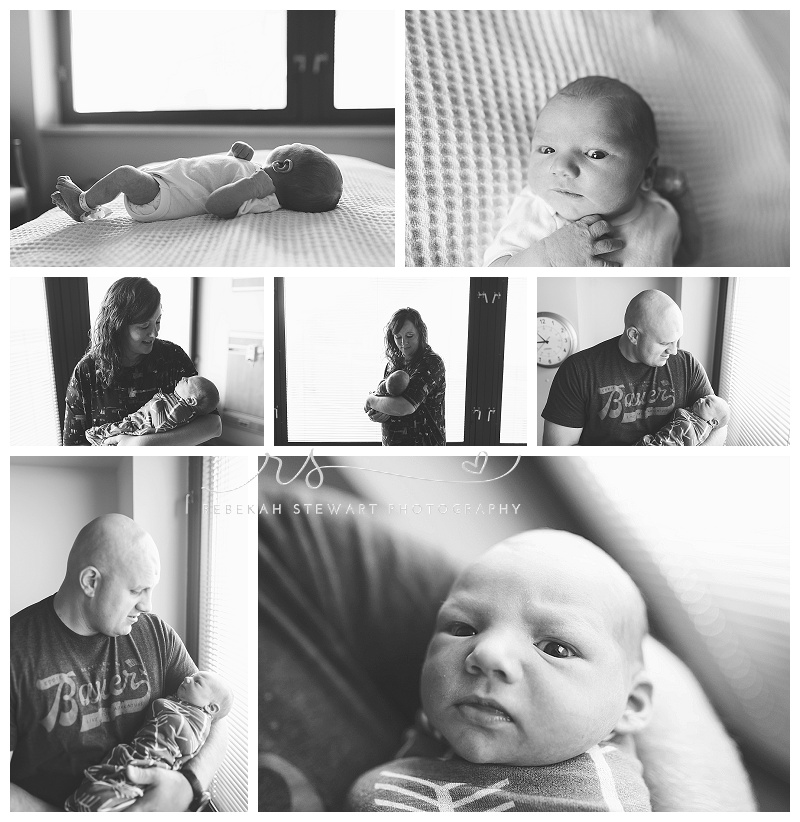 Iowa city hospital newborn photography