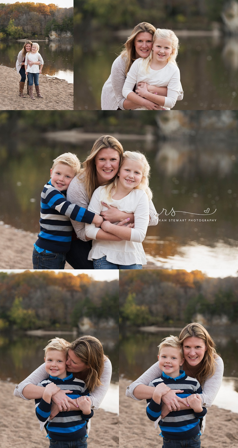 Brother and sister on the beach - Cedar Rapids photographer