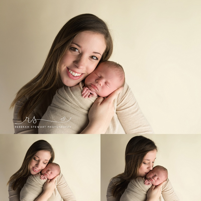 Sleepy baby boy - Cedar Rapids newborn photos