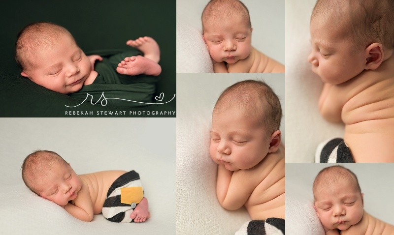 Newborn and his parents - Cedar Rapids baby photographer
