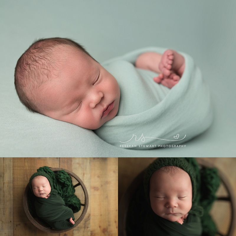 cozy baby boy - Cedar Rapids newborn photographer