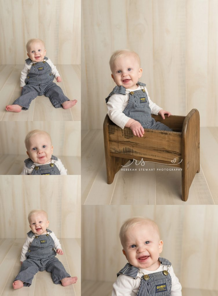 Baby photographer Cedar Rapids - Noah is one!